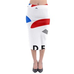 Logo Of The French Air Force (armee De L air) Midi Pencil Skirt