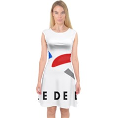 Logo Of The French Air Force (armee De L air) Capsleeve Midi Dress