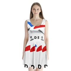 Logo Of The French Air Force (armee De L air) Split Back Mini Dress