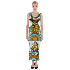Coat of Arms of the Bahamas Fitted Maxi Dress