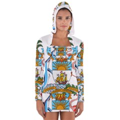 Coat of Arms of the Bahamas Women s Long Sleeve Hooded T-shirt