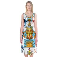 Coat of Arms of the Bahamas Midi Sleeveless Dress