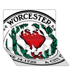 Seal of Worcester, Massachusetts Miss You 3D Greeting Card (7x5)