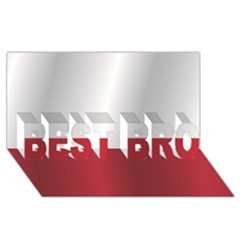 Flag of Poland BEST BRO 3D Greeting Card (8x4)