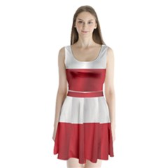Flag of Poland Split Back Mini Dress