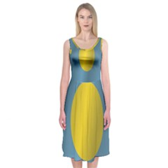 Flag of Palau Midi Sleeveless Dress