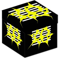 Yellow abstraction Storage Stool 12