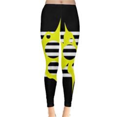 Yellow abstraction Leggings