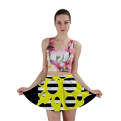 Yellow abstraction Mini Skirt