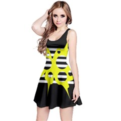 Yellow abstraction Reversible Sleeveless Dress