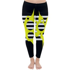 Yellow abstraction Winter Leggings