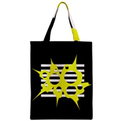 Yellow abstraction Zipper Classic Tote Bag