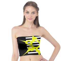 Yellow abstraction Tube Top