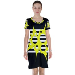 Yellow abstraction Short Sleeve Nightdress