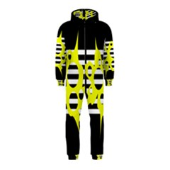 Yellow abstraction Hooded Jumpsuit (Kids)