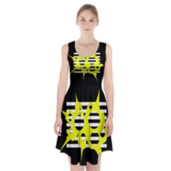 Yellow abstraction Racerback Midi Dress