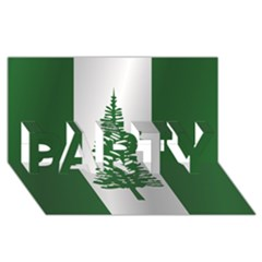 Flag Of Norfolk Island PARTY 3D Greeting Card (8x4)