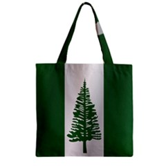 Flag Of Norfolk Island Zipper Grocery Tote Bag