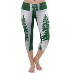 Flag Of Norfolk Island Capri Yoga Leggings
