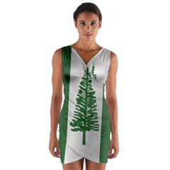 Flag Of Norfolk Island Wrap Front Bodycon Dress