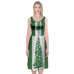 Flag Of Norfolk Island Midi Sleeveless Dress