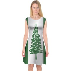Flag Of Norfolk Island Capsleeve Midi Dress