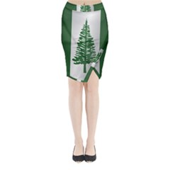 Flag Of Norfolk Island Midi Wrap Pencil Skirt