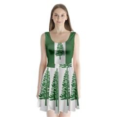 Flag Of Norfolk Island Split Back Mini Dress