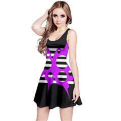Purple abstraction Reversible Sleeveless Dress