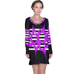 Purple abstraction Long Sleeve Nightdress