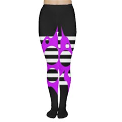 Purple abstraction Women s Tights