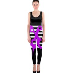 Purple abstraction OnePiece Catsuit