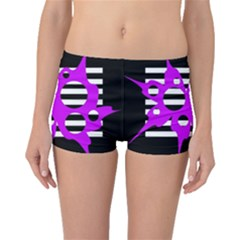 Purple abstraction Boyleg Bikini Bottoms