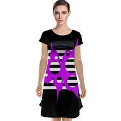 Purple abstraction Cap Sleeve Nightdress