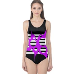 Purple abstraction One Piece Swimsuit