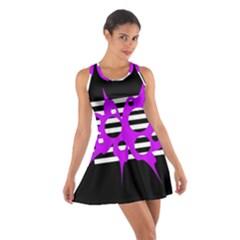 Purple Abstraction Cotton Racerback Dress