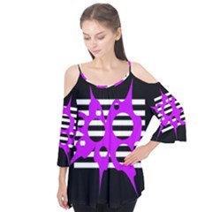 Purple abstraction Flutter Tees