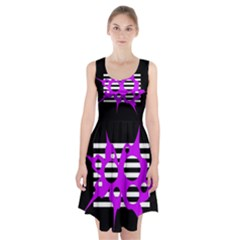 Purple abstraction Racerback Midi Dress