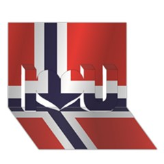 Flag Of Norway I Love You 3D Greeting Card (7x5)