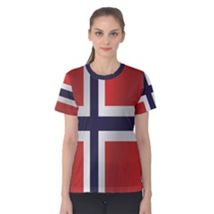 Flag Of Norway Women s Cotton Tee