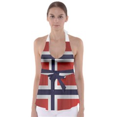 Flag Of Norway Babydoll Tankini Top