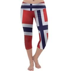 Flag Of Norway Capri Yoga Leggings