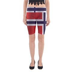 Flag Of Norway Yoga Cropped Leggings