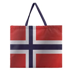 Flag Of Norway Zipper Large Tote Bag