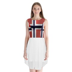 Flag Of Norway Sleeveless Chiffon Dress