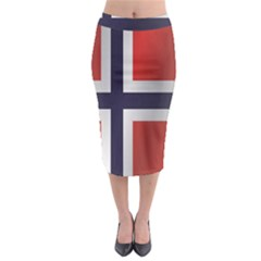Flag Of Norway Midi Pencil Skirt