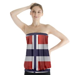 Flag Of Norway Strapless Top