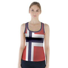 Flag Of Norway Racer Back Sports Top