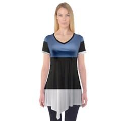 Flag Of Estonia Short Sleeve Tunic