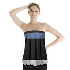 Flag Of Estonia Strapless Top